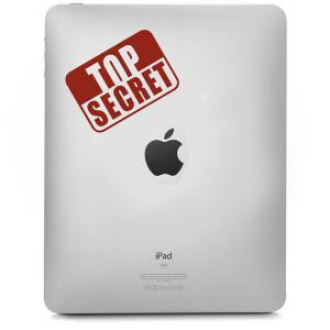 Top Secret decal for IPad - Sticker..