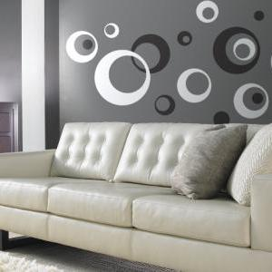 Retro Wall Vinyl Sticker Decal Circ..