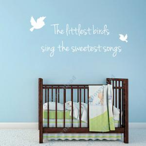 Wall Decals Text - The littlest bir..