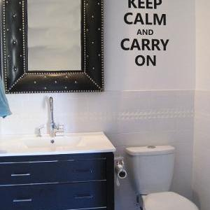 Wall Decal Quotes - Keep Calm and C..