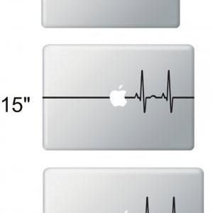 Beat Heart Line Apple - Stickers Ma..