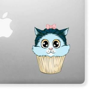 Kitty Cake, Cupcake, Cat Decal Stic..