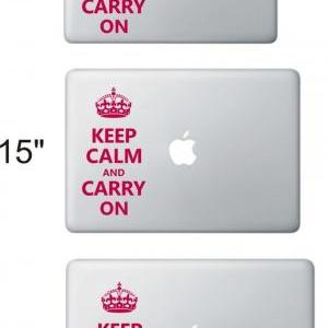 Keep Calm Carry On - Notebook Decal..