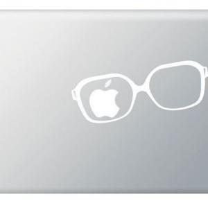 Glasses Apple Vinyl Decal ideal for..