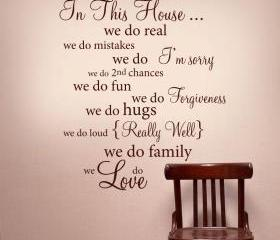 IN THIS HOUSE Wall W..