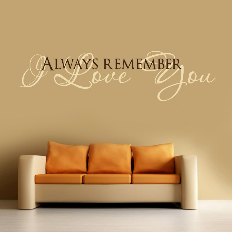 Word Wall Art Vinyl Lettering Home Decor ~ I love you vinyl wall decal words lettering quote