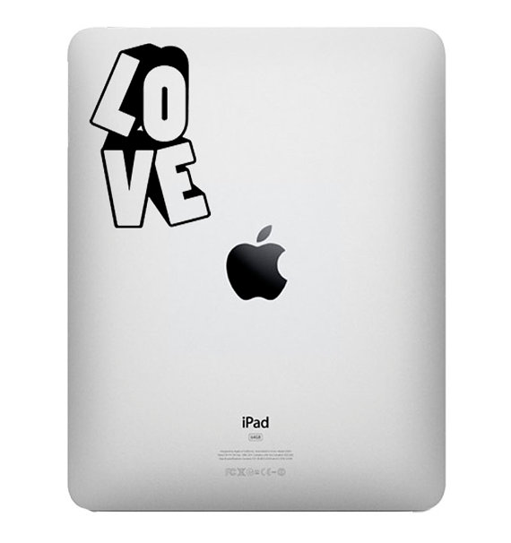 Love - Vinyl Decal for IPad, IPad II, Tablet Stickers Decals Apple Macbook - Buy 2 get 1 Free