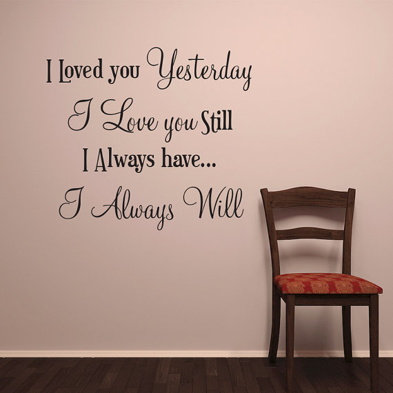I LOVE YOU Wall Words Vinyl Decal Stickers For Walls I Always Will Gorgeous Words Of Love Quotes