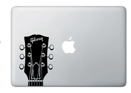 Music Gibson Headstock Guitar Vinyl Decal Many Colors - Buy 2 get 1 Free