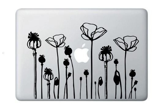 California poppy flower deco mural art notebook decal laptop sticker macbook mac
