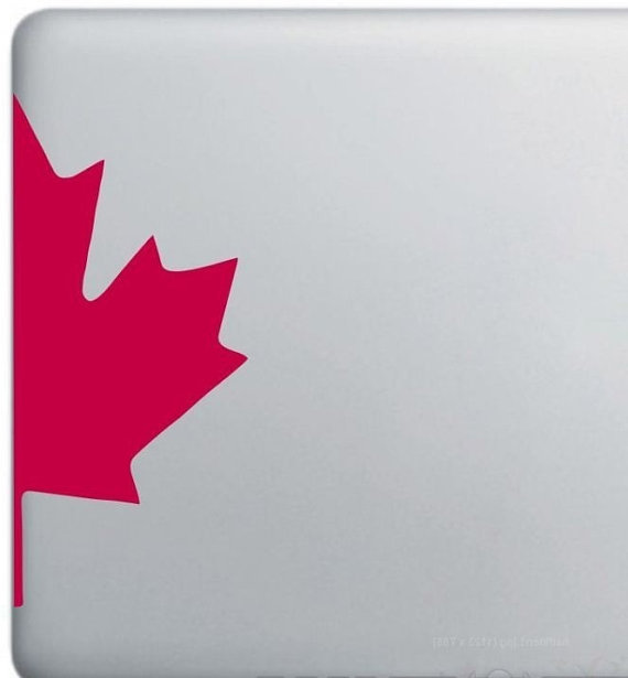 New maple leaf canada macbook laptop decal sticker canadian red