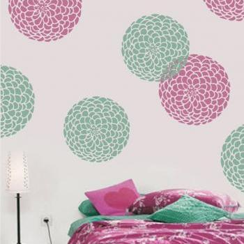 Seven Custom Color Bloom Art Decor Wall Sticker Decal - My Bloom