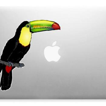 Toucan Bird Art Decor Apple Laptop Wall Paper Sticker Decal Full Color