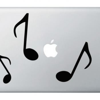 Black Music Note - Vinyl Decal Notebook Laptop Cover Sticker MACBOOK Decor - Buy 2 get 1 Free