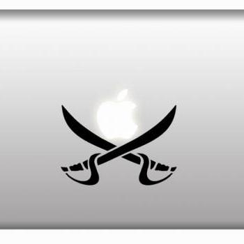 Buy 2 get 1 Free - Pirates Cross Swords for Pirates Sailboat, Apple Mac Vinyl Decal Stickers