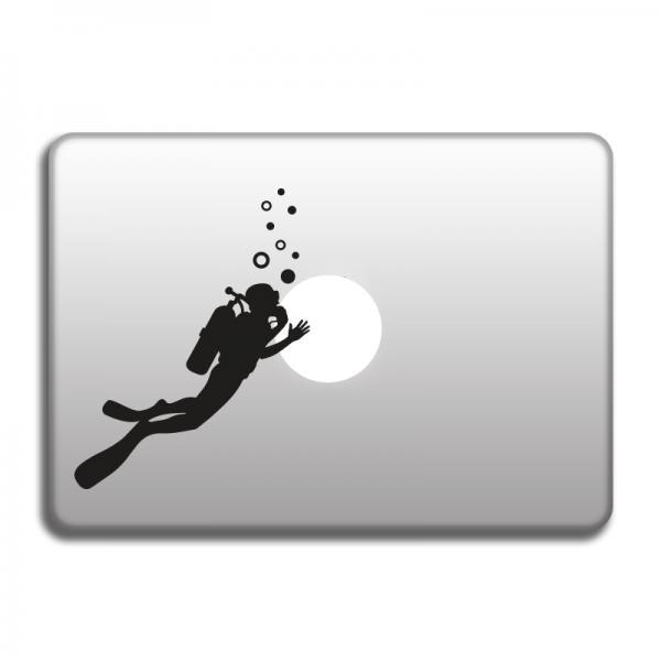 Scuba Diver stickers for MacBook, vinyl stickers for laptop, cars, windows