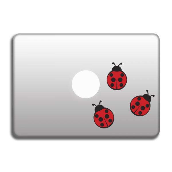 Ladybugs vinyl decals for laptop, stickers for MacBook, art vinyl for car, window, door, wals