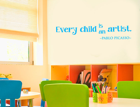 Every Child Is An Artist Kids Wall Vinyl Decals For